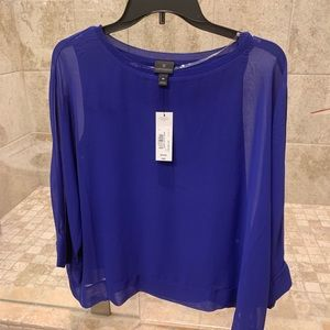 Royal blue blouse